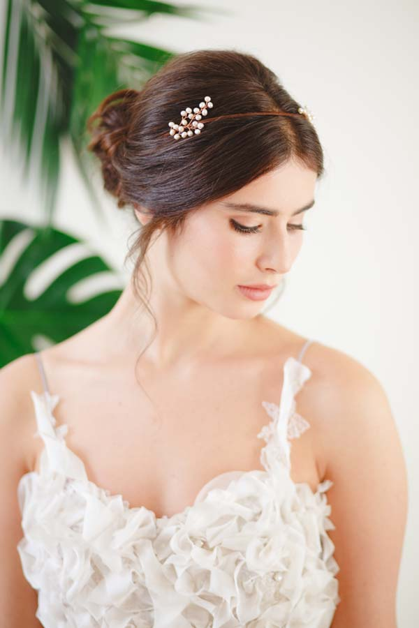Gypsophila II Statement Pearl Wedding Headpiece