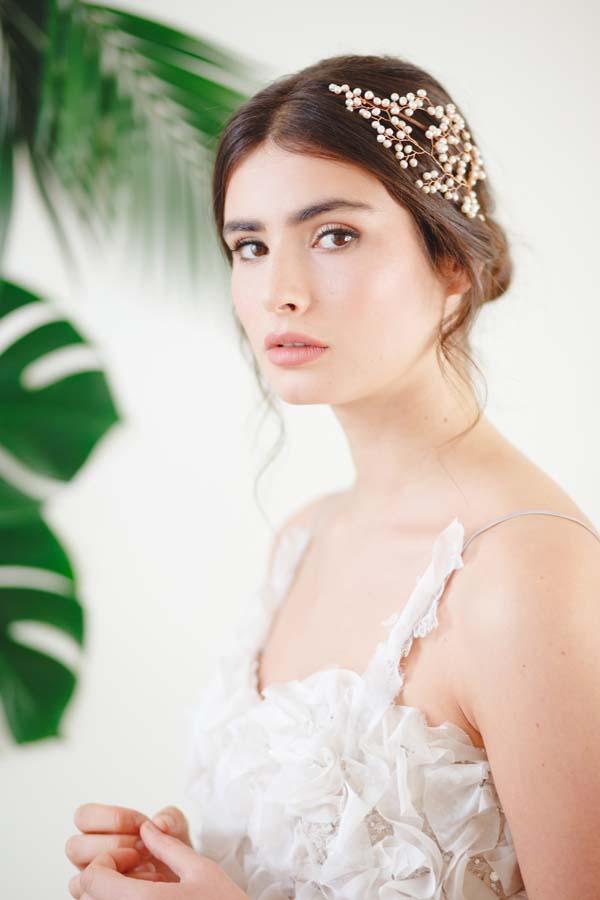 Gypsophila II Statement Pearl Wedding Headpiece