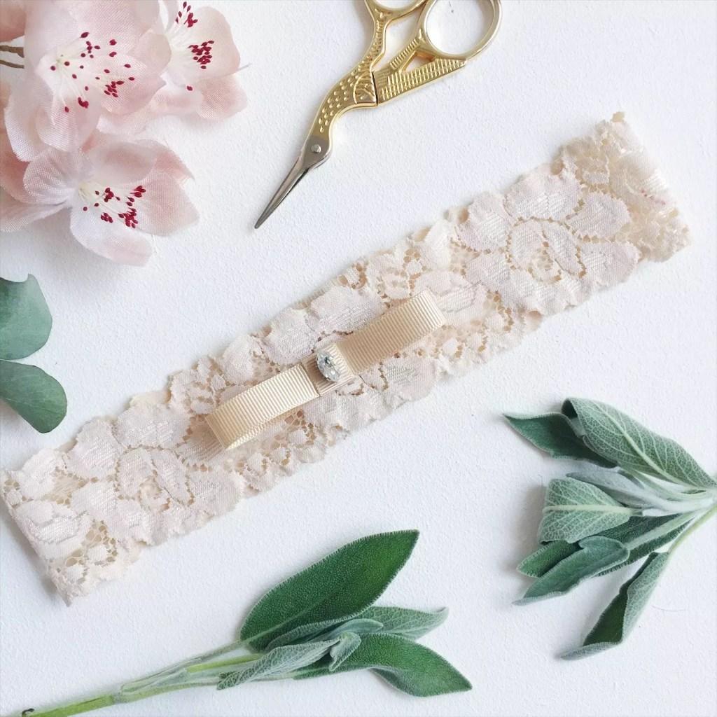 modern wedding garter