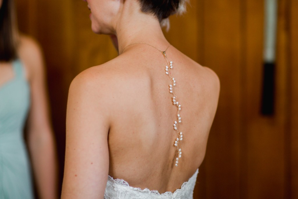 wedding back necklace