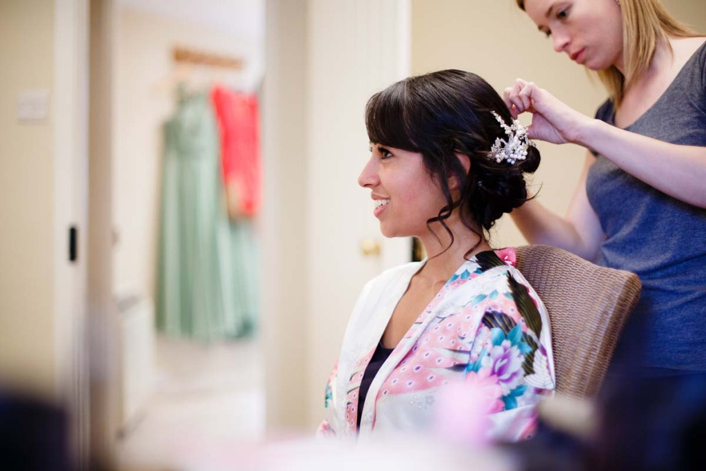silver hair vine wedding