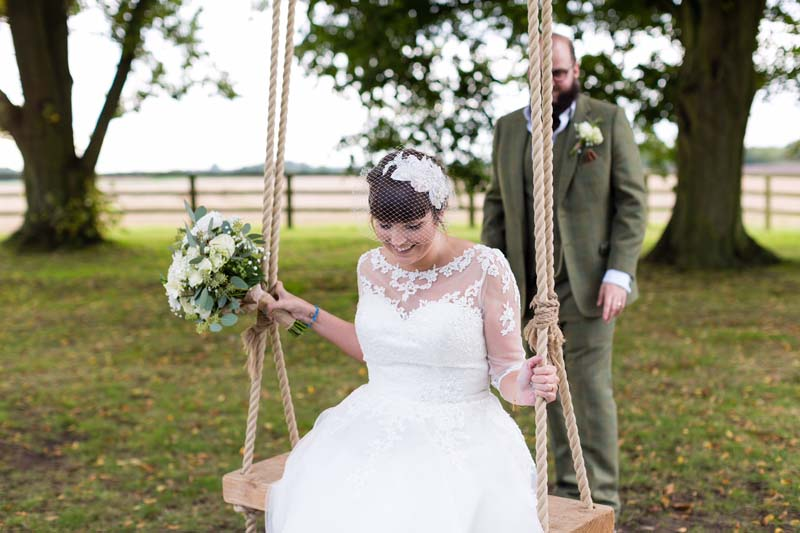 lace wedding headpiece and birdcage veil