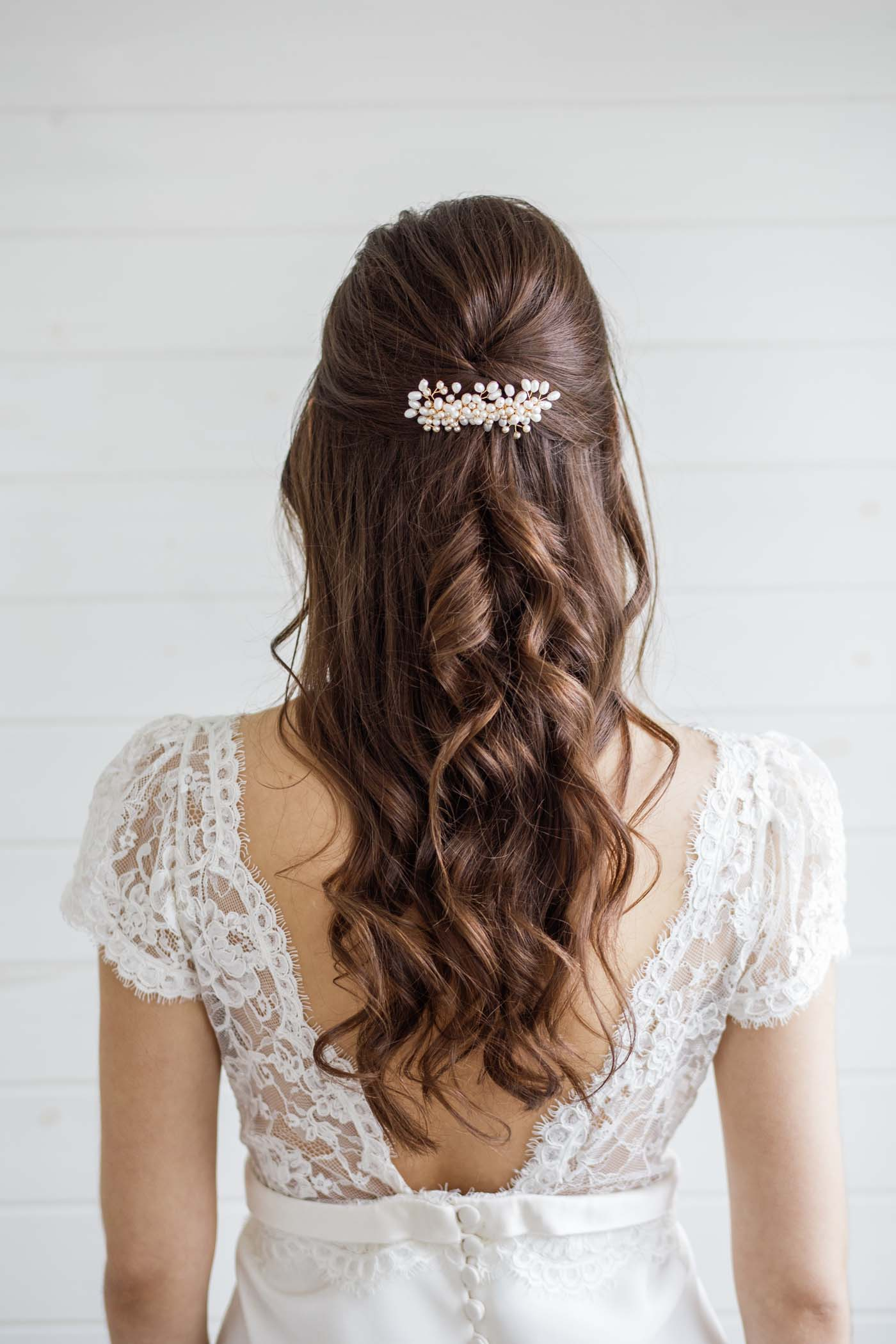 alyssum pearl wedding hair comb