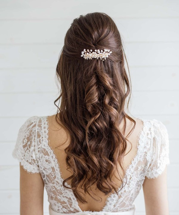 London Wedding Hair Accessories Pearl Hair Comb