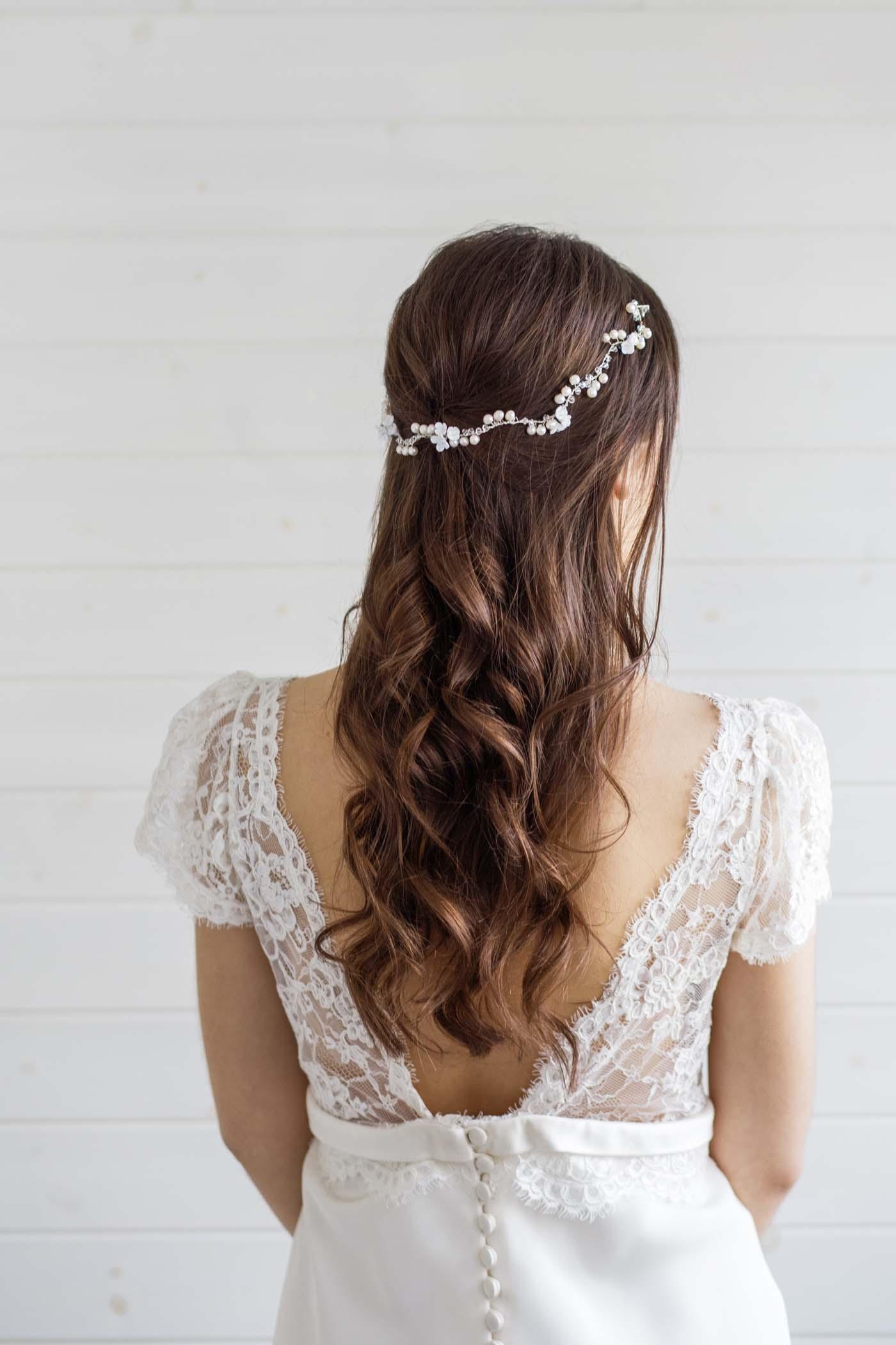 Calla Lily Wedding Hair Vine Victoria Millesime
