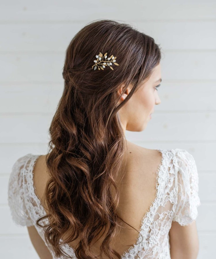 Delphinium Pearl Bridal Hair Pin