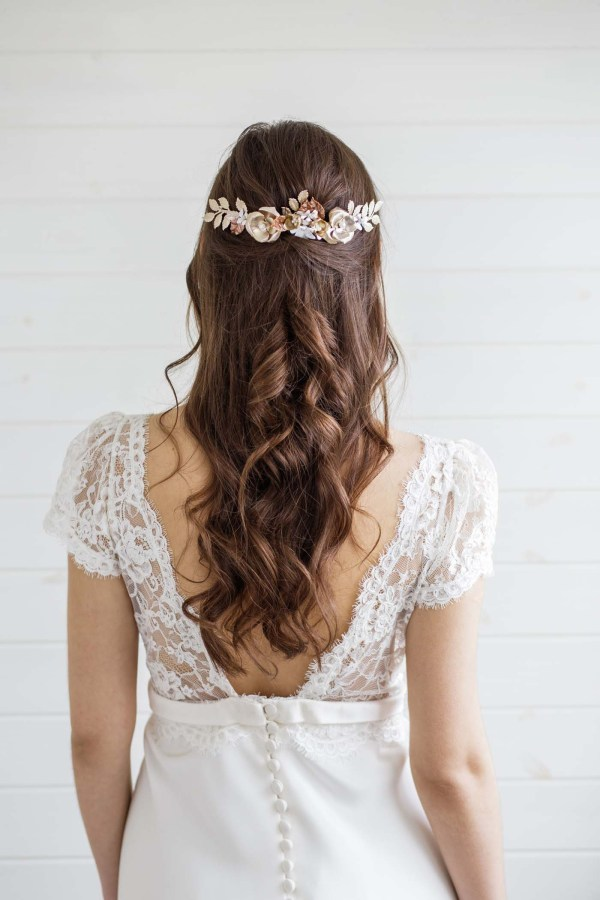 Etoile Gold Wedding Hair Comb Bridal