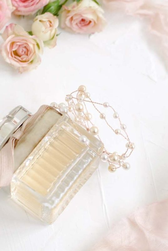 Larkspur Pearl Bridal Cuff Bracelet