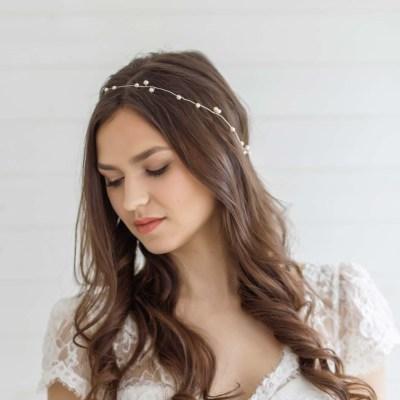 Limonium Cheap Wedding Hair Vine