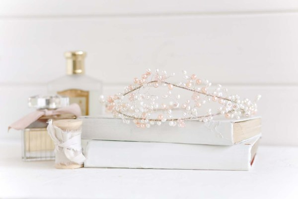 Sweet Pea Traditional Pearl Wedding Tiara