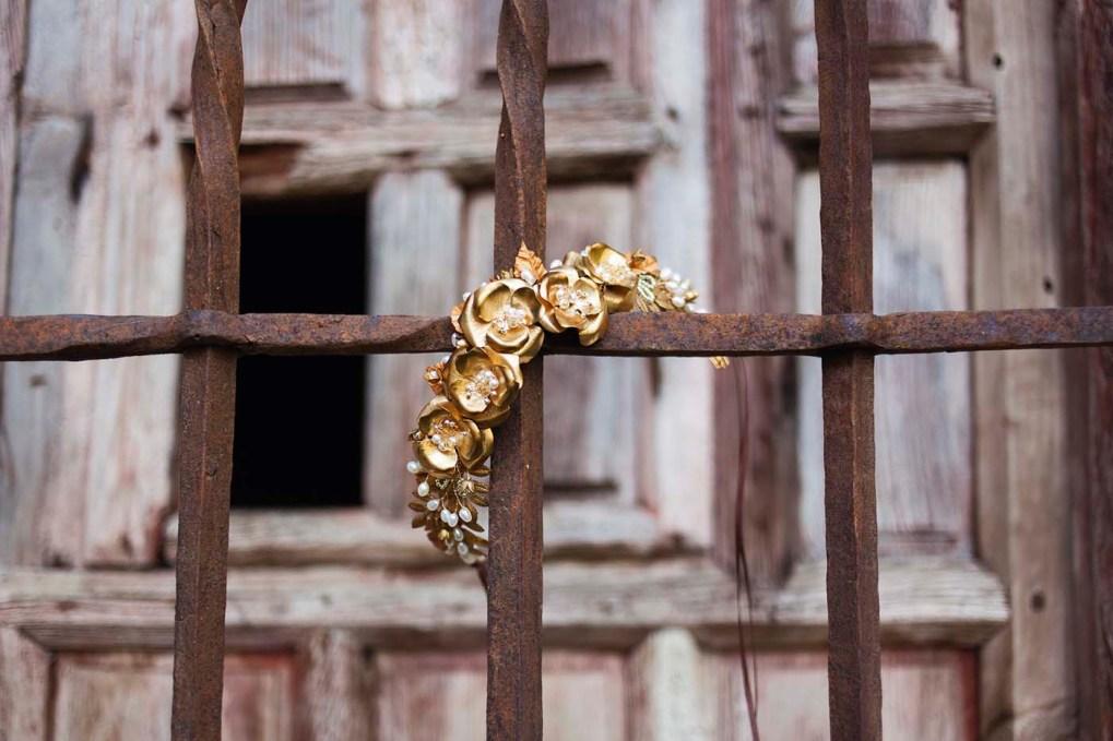 Custom Wedding Accessories - Gold Crown