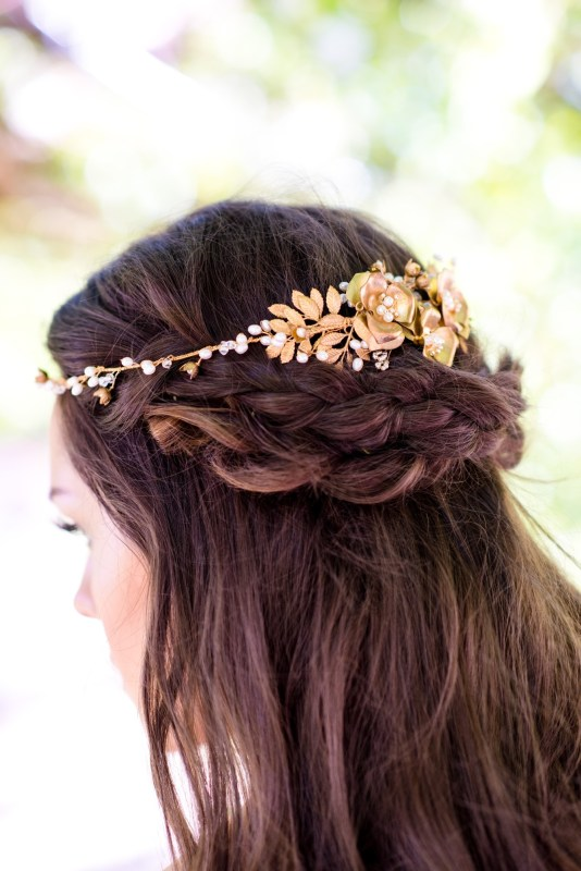 half up half down wedding hair accessories