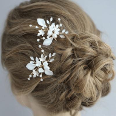 Alyssa Clay Flower Hair Pin