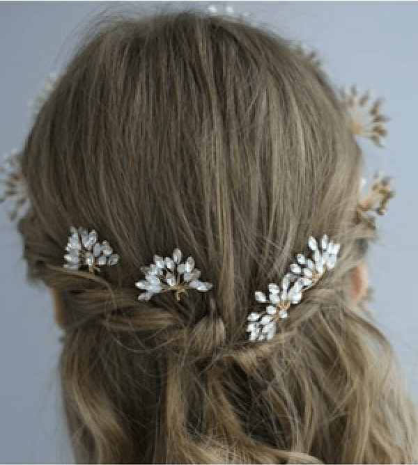 Star Burst Celestial Bridal Hair Pin