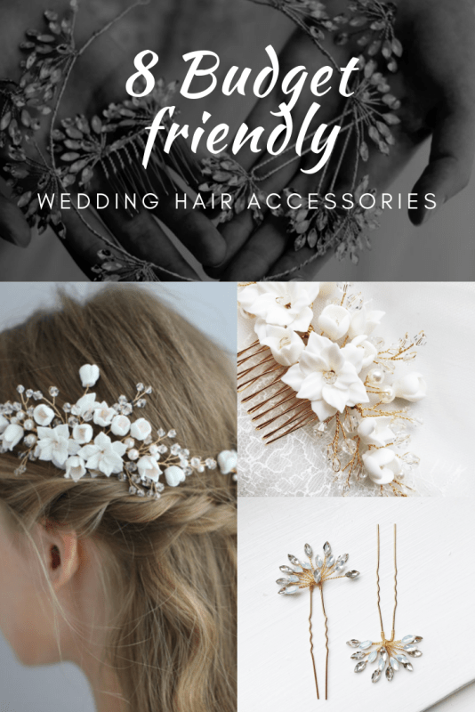 Budget friendly wedding hair accessories
