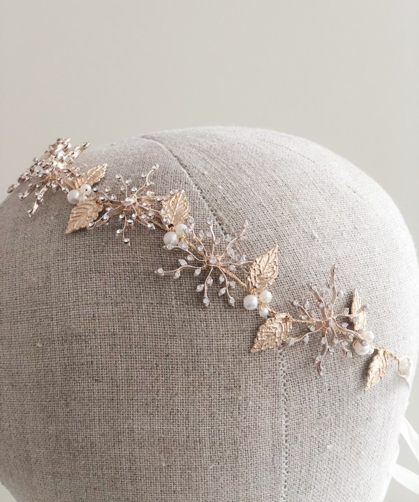 Sienna Gold Star Bridal Hair Vine