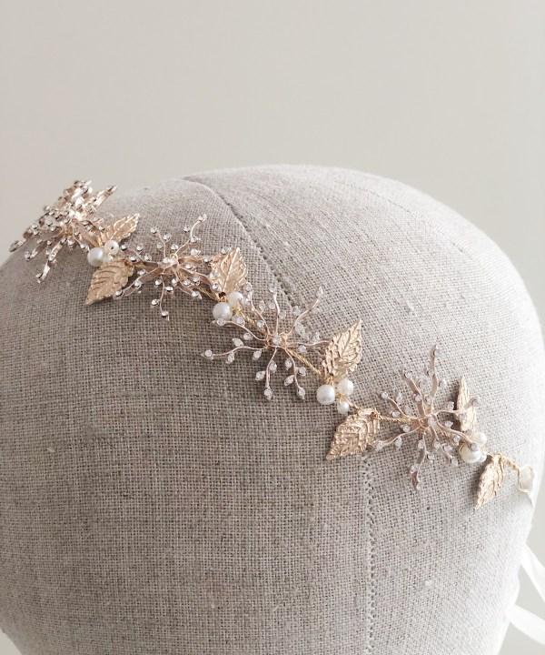 Sienna Gold Star Bridal Hair Vine