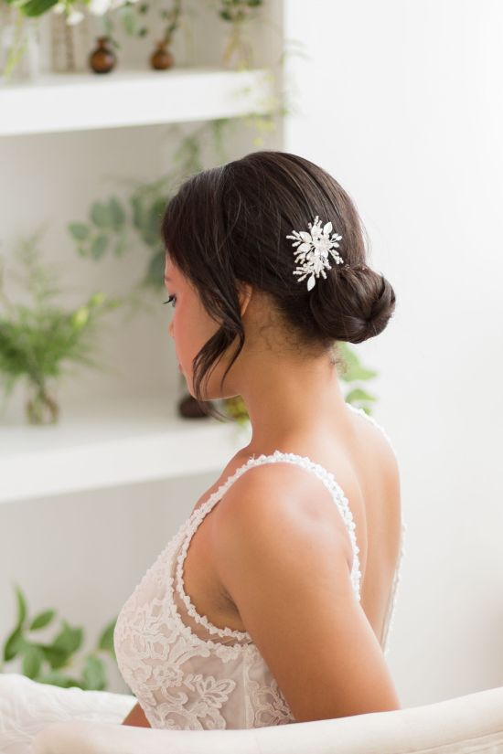 Silver Wedding Hair Pins