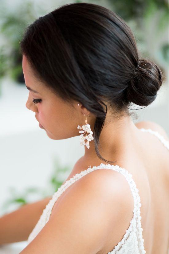 Statement Gold Wedding Earrings