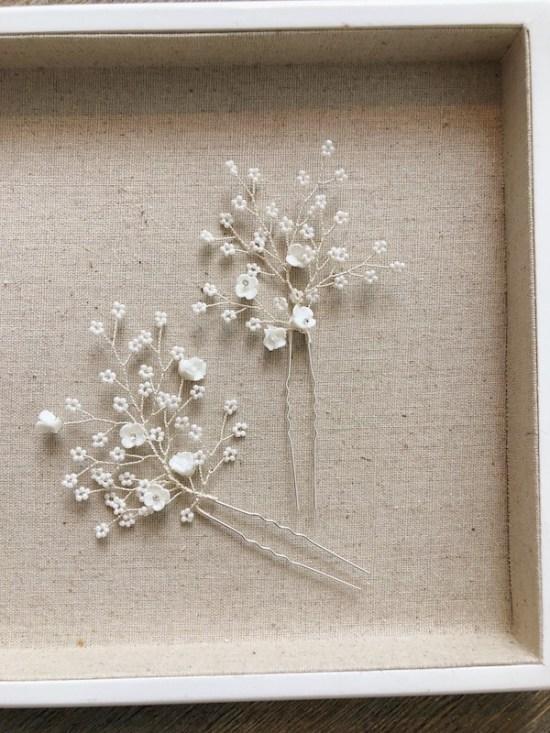 Dawne Silver Wedding Hair Pins