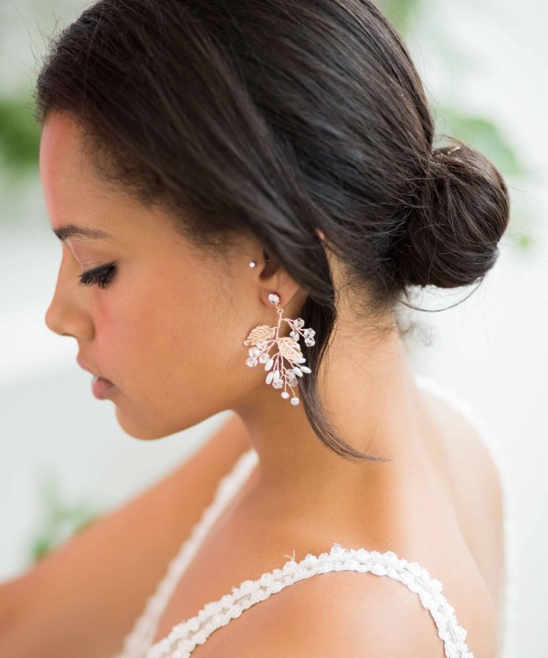 Diana Statement Gold Bridal Earrings