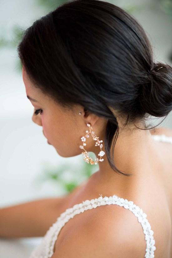 Lucinda Statement Gold Bridal Earrings