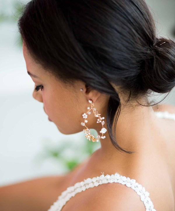 Lucinda Statement Gold Bridal Earrings