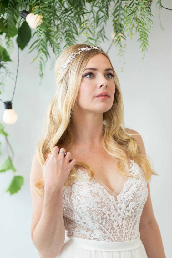 Roslyn Silver Wedding Hair Vine