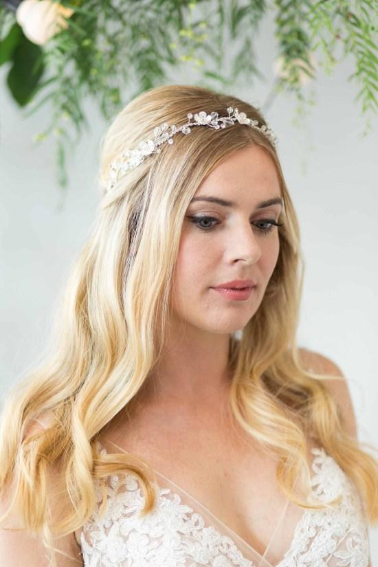 Roslyn Silver Wedding Hair Vine