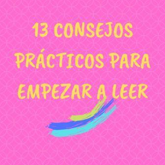 13 CONSEJOS LECTURAS