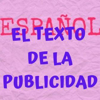 EL TEXTO DE LA PUBLICIDAD