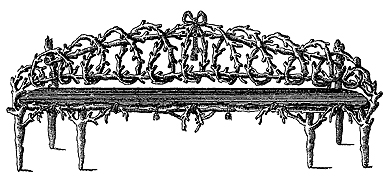 Panchina in ferro battuto