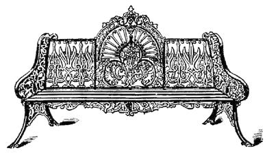 La Casa Vittoriana ~ Mobilia ~ Mobili da giardino in ferro battuto.  Racconti dal passato