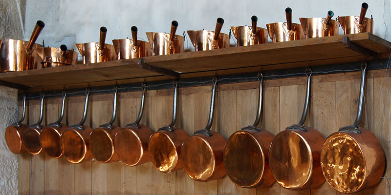 Farmhouse Kitchen Pictures 7 Of 16 Copper Pots Amp Pans