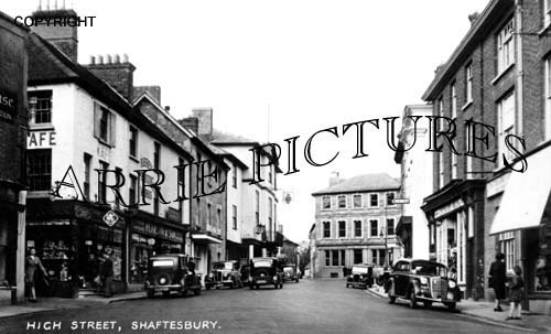 Shaftesbury, High Street c1950