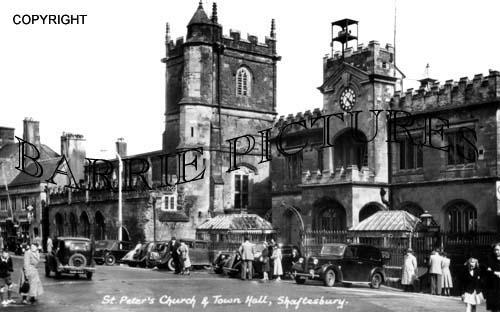 Shaftesbury, Town Hall c1950