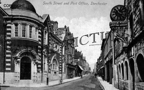 Dorchester, South Street and Post Office c1913