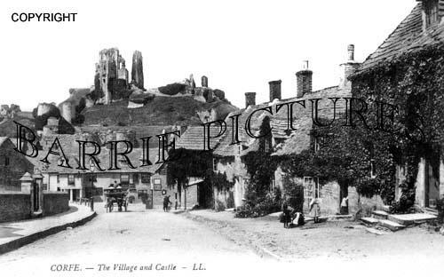 Corfe Castle, the Village c1905