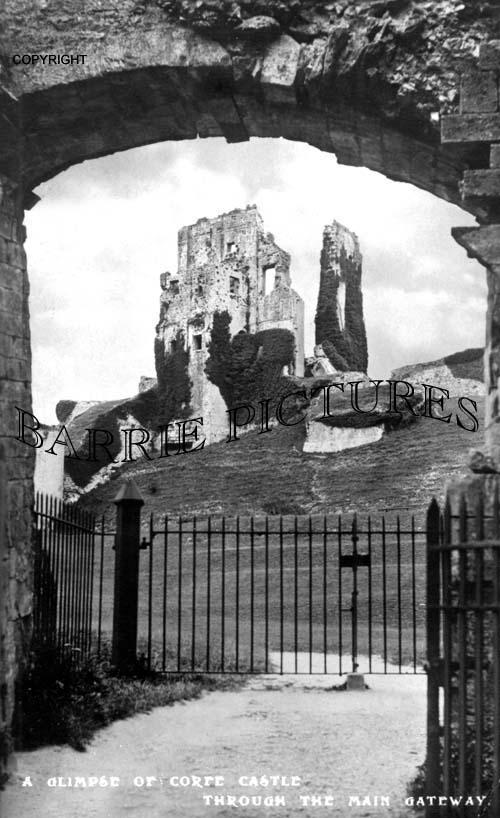 Corfe Castle, Through the Main Gate c1915
