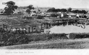 Hindon, view from the Downs c1905
