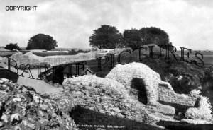 Old Sarum, Ruins c1950