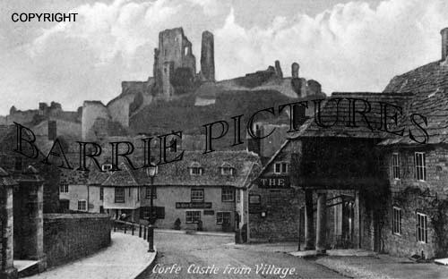 Corfe Castle, from Village c1930