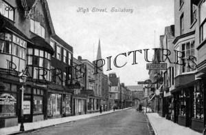 Salisbury, High Street c1906