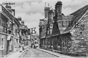 Poole, Alms Houses and Town Hall c1900