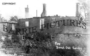 Semley, Fire at Broak Oak 1930