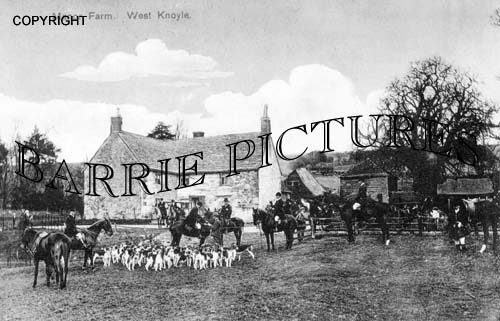 West Knoyle, The Hunt at Manor Farm c1930