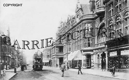 Bournemouth, Christchurch Road and Royel Arcade 1907
