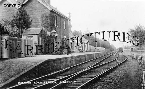 Alderholt, Daggons Road Station c1920