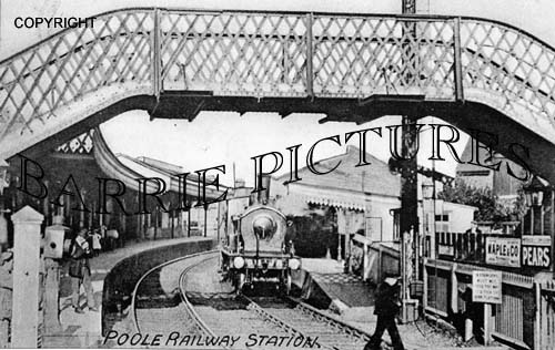 Poole, Railway Station c1890