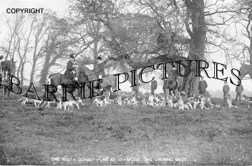 Stinsford, The Opening Meet of the South Dorset Hunt c1920